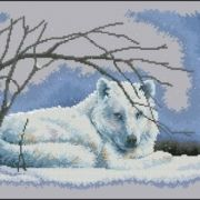 Dimensions 35123 Wolf in Snow